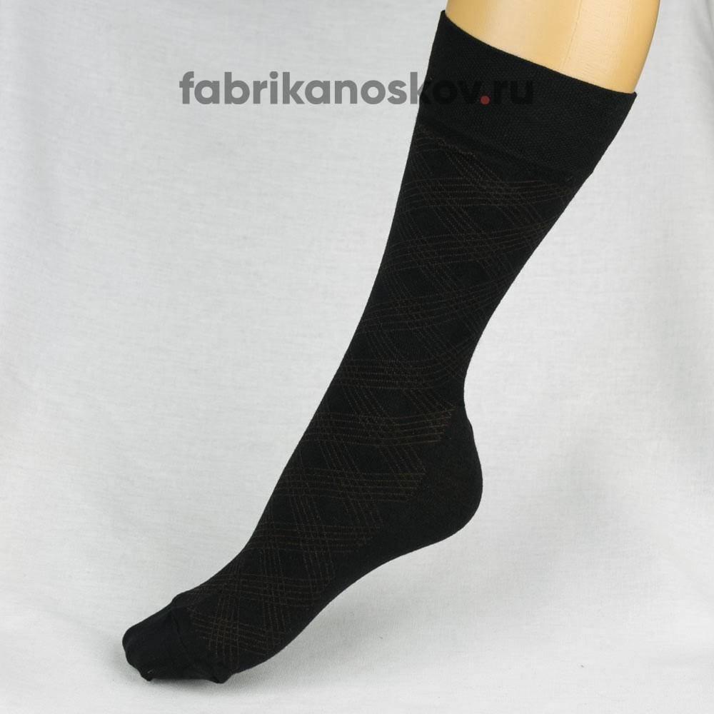 Мужские носки с ромбами