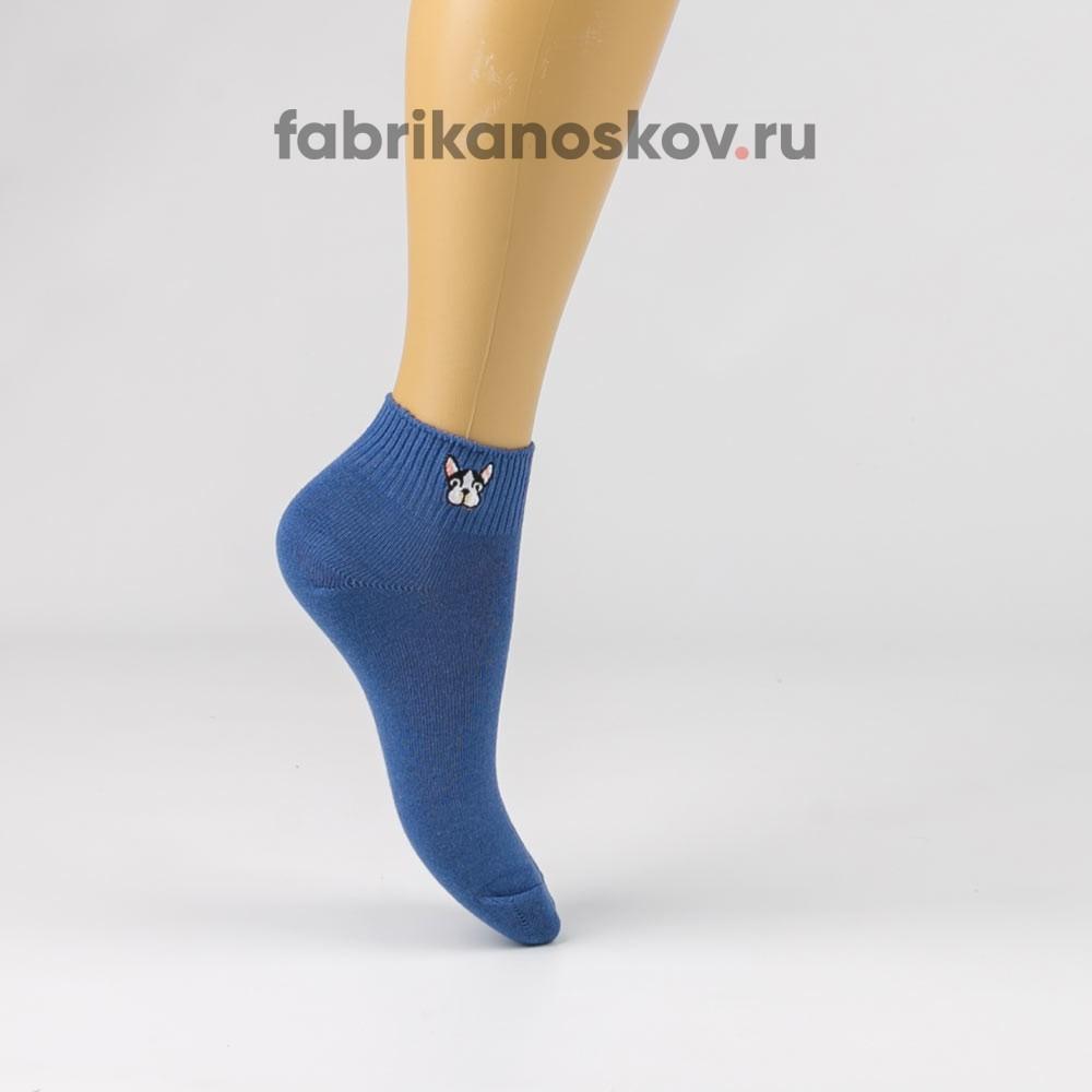 Женские короткие носки с изображением собаки