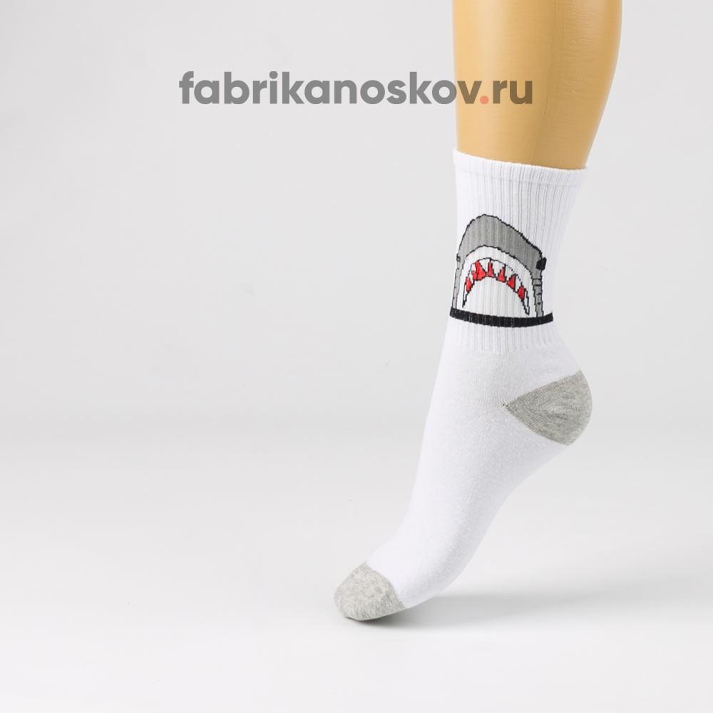Мужские носки с изображением акулы