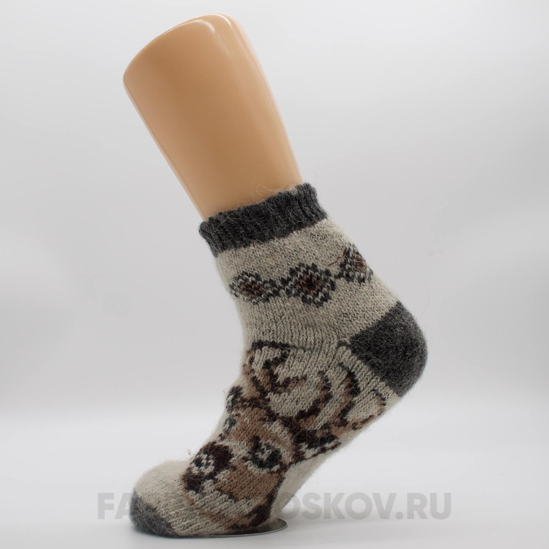 Мужские короткие шерстяные носки с оленем