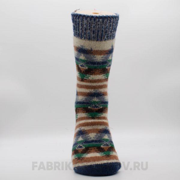 Мужские шерстяные носки с полосками и ромбами