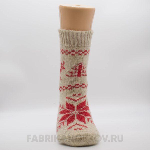 Женские длинные шерстяные носки с оленем с снежинкой