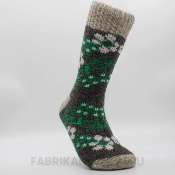 Женские шерстяные носки с белыми цветами