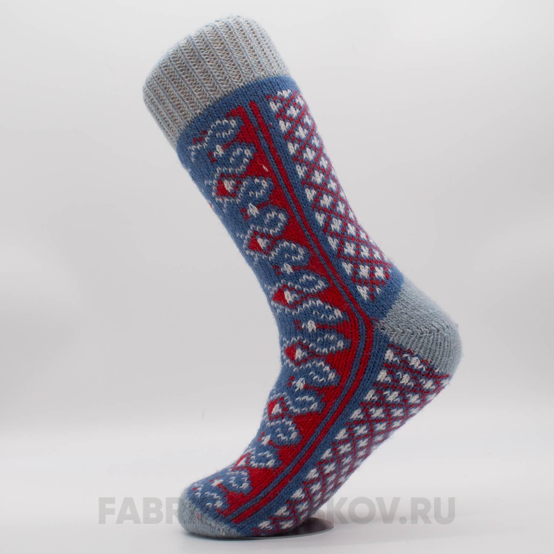 Мужские шерстяные носки с узорами