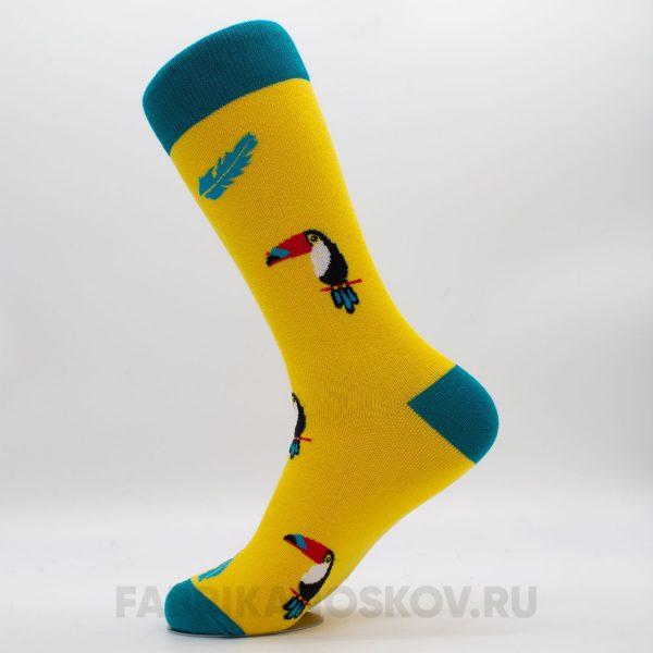 Мужские носки с изображением тукана