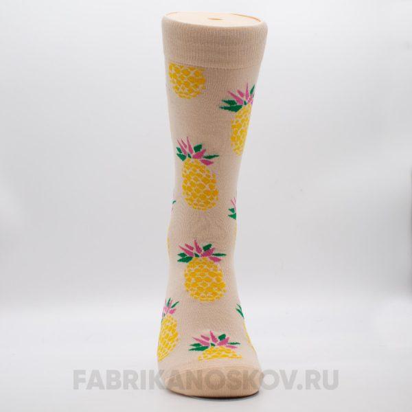Мужские носки с изображением ананаса