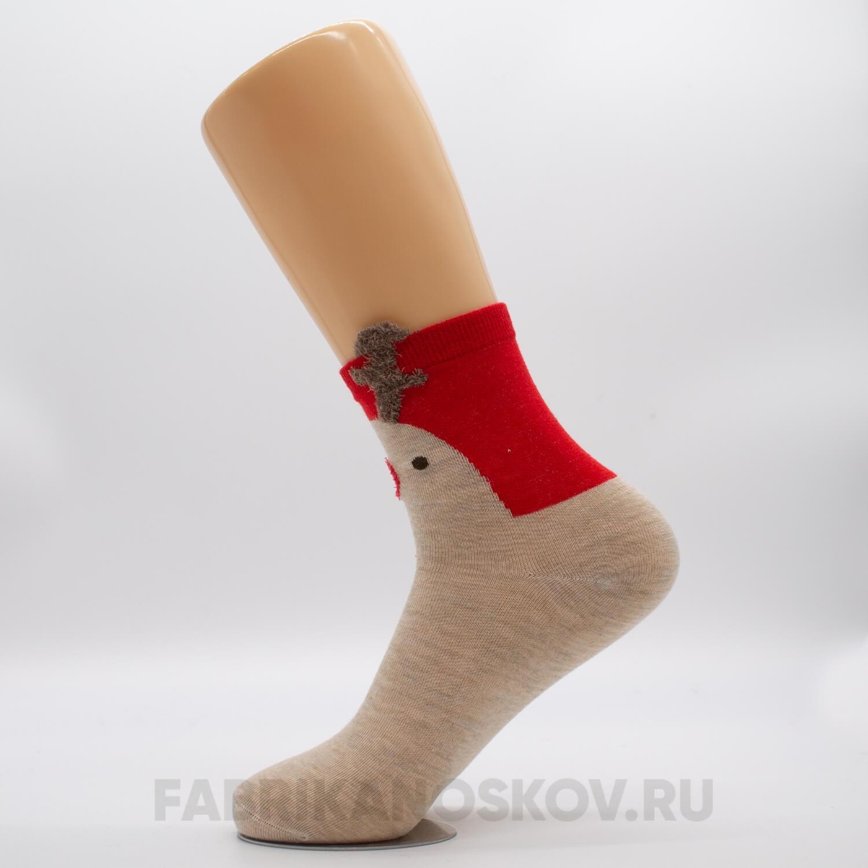 Женские новогодние носки с оленем