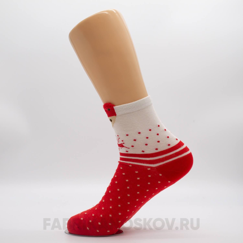 Детские новогодние носки с лисичкой и оленями