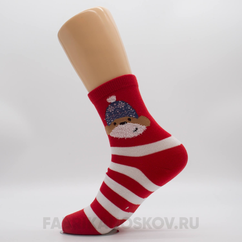 Женские новогодние носки с собачкой