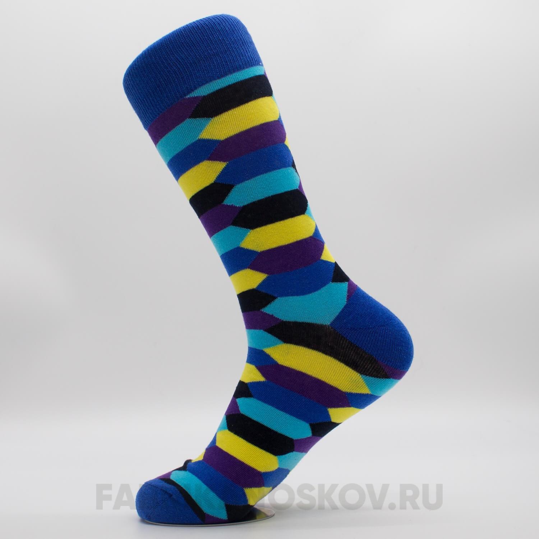 Мужские носки с шестиугольниками