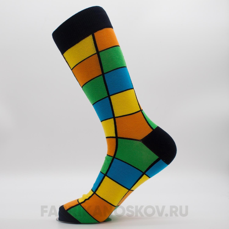 Мужские носки с большими прямоугольниками