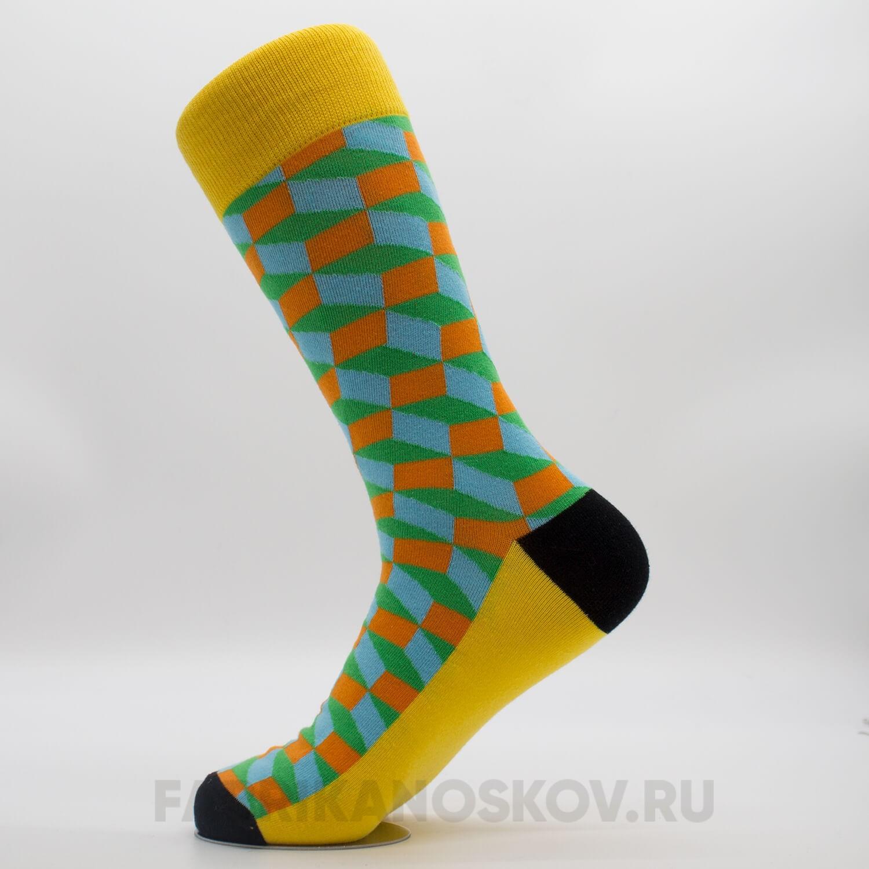 Мужские носки с 3д эффектом
