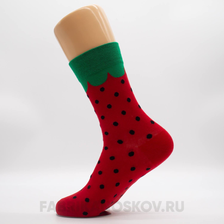 Длинные женские носки с арбузом