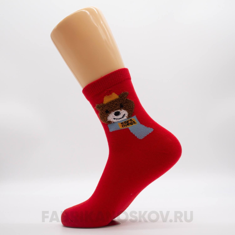 Женские новогодние носочки с мишкой