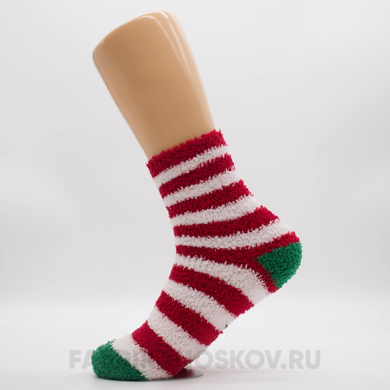 Мягкие женские новогодние носки