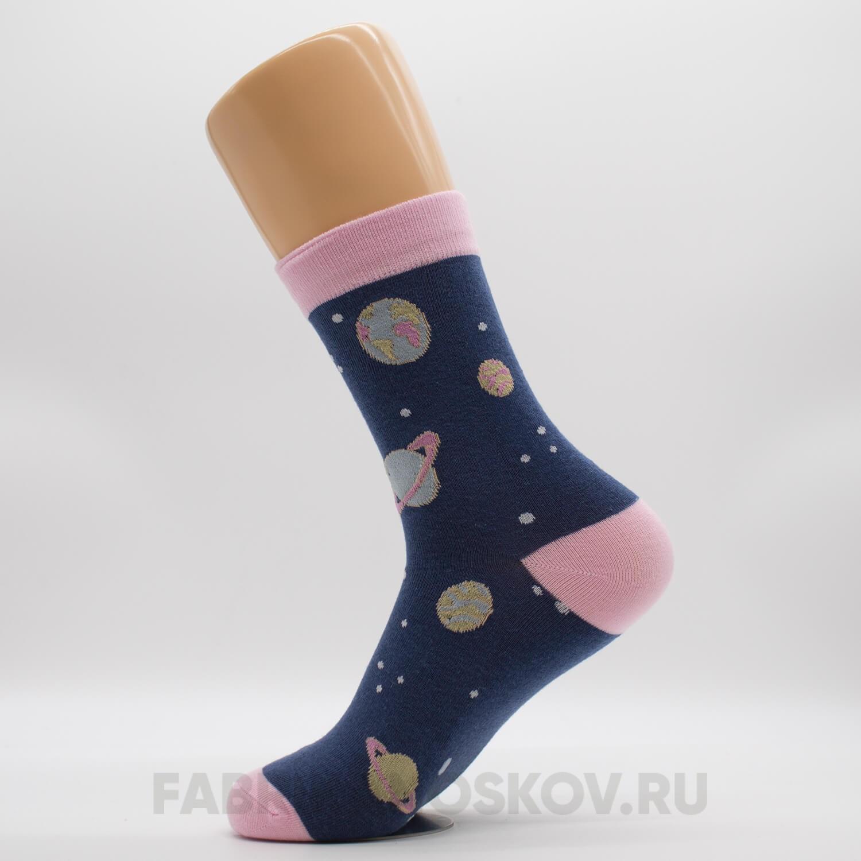 Женские носки с планетами