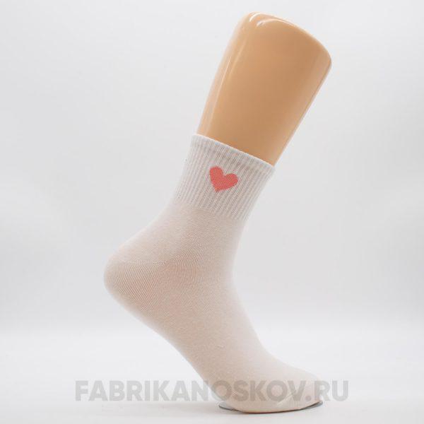Женские носки с изображением сердца