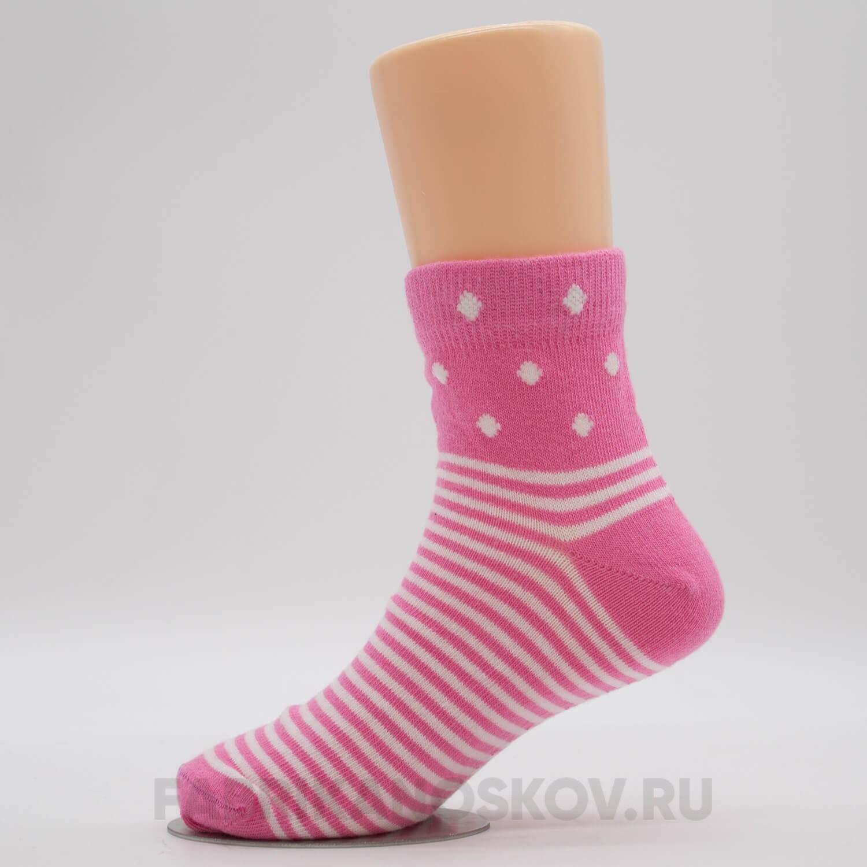 Детские носки с полосками и ромбами