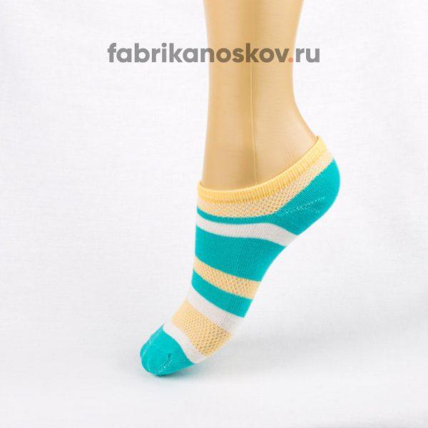 Короткие детские носки с полосками