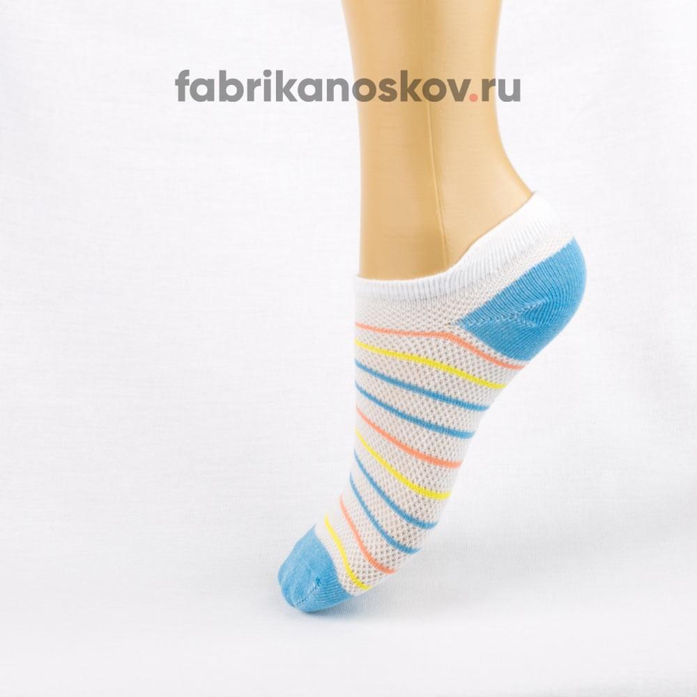 Короткие носки для малышей с полосками и мыском разных цветов
