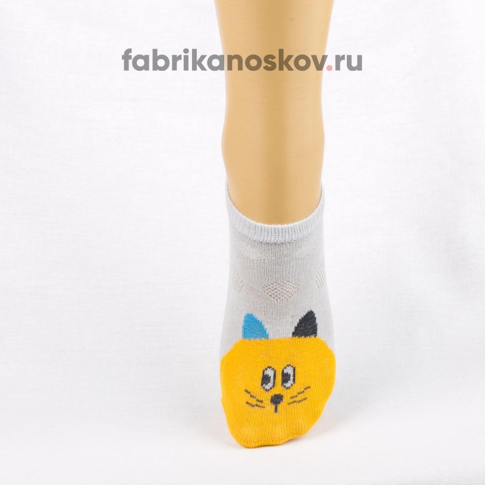 Короткие носки для малышей с изображением кота