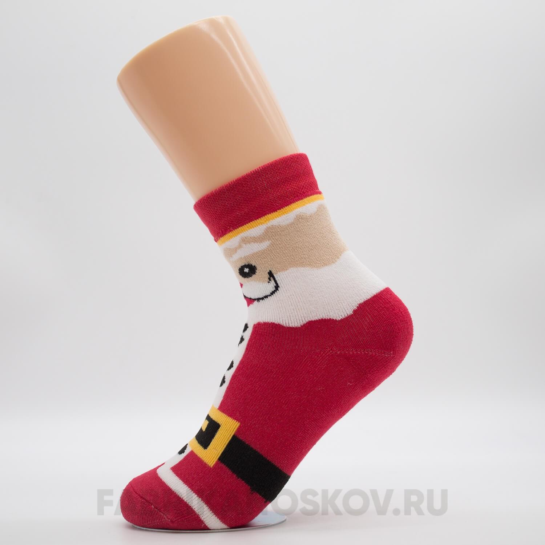Детские носки с изображением Деда Мороза