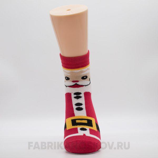 Женский носок с изображением Деда Мороза