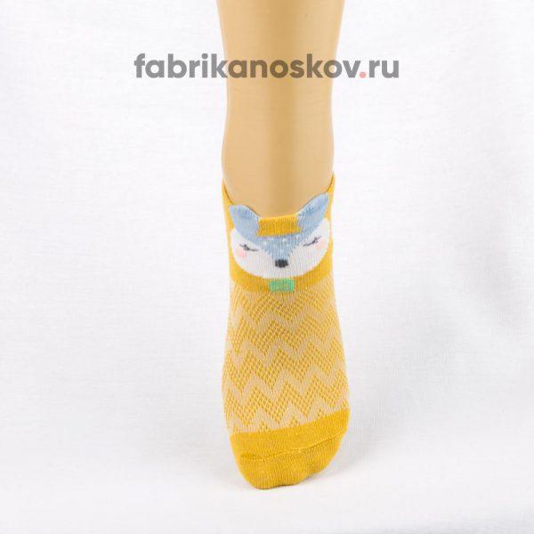 Короткие детские носки с изображением лисы