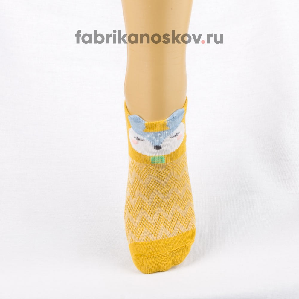Короткие носки для малышей с изображением лисы