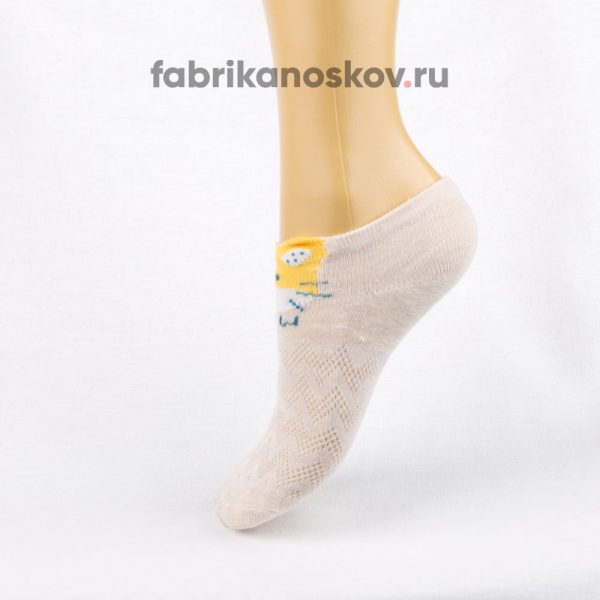 Короткие детские носки с изображением мордочки кота