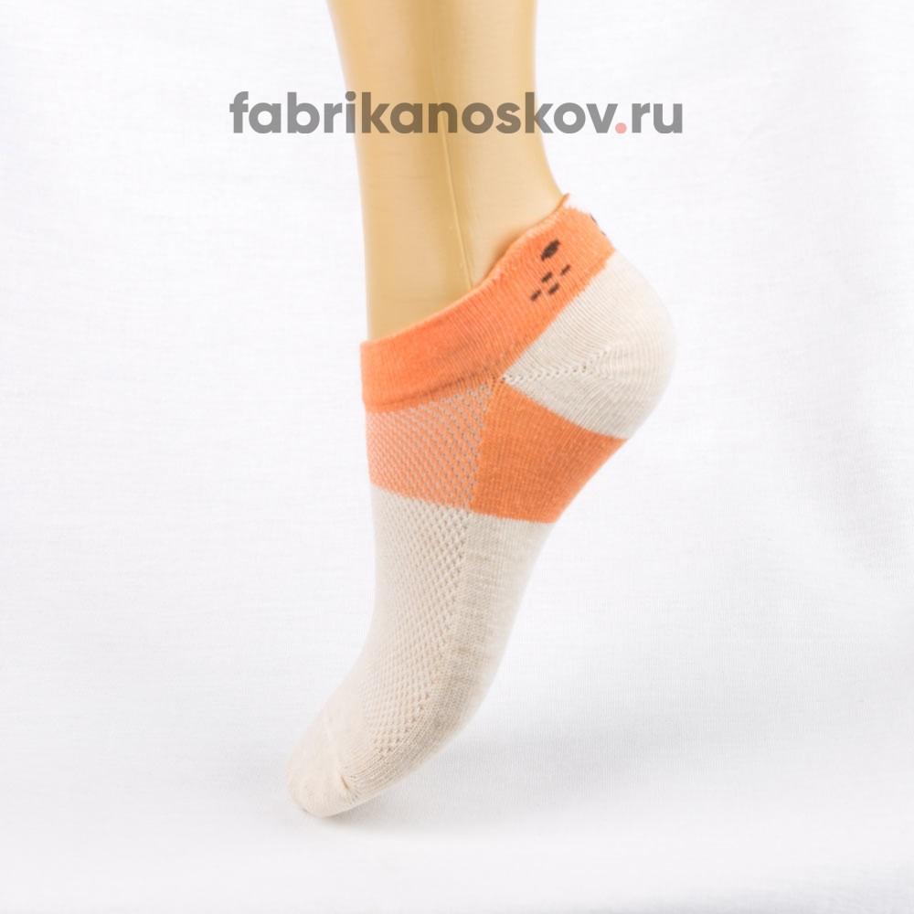 Короткие носки для малышей с изображением кошки на задней части