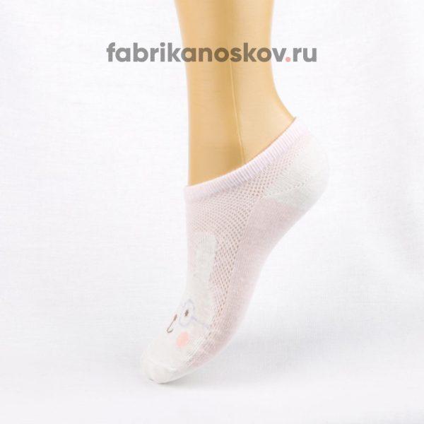 Короткие детские носки с изображением зайчика в очках