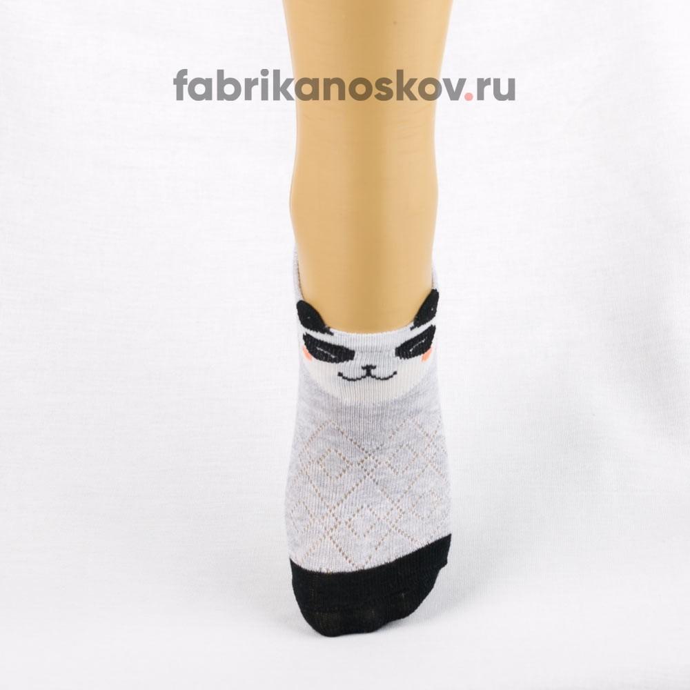 Короткие носки для малышей с изображением мордочки панды
