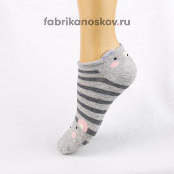 Короткие детские носки с изображением мышки