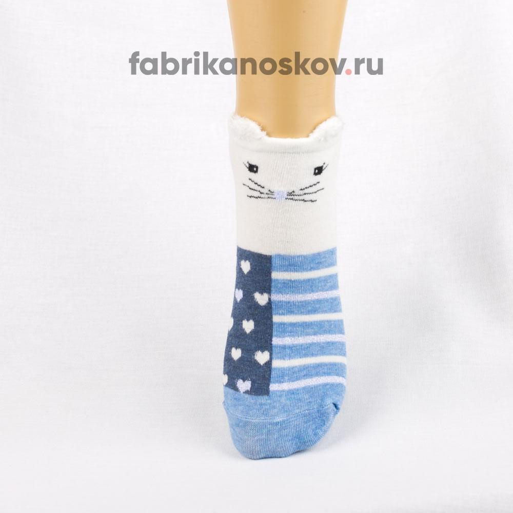 Короткие носки для малышей с мордочкой кота