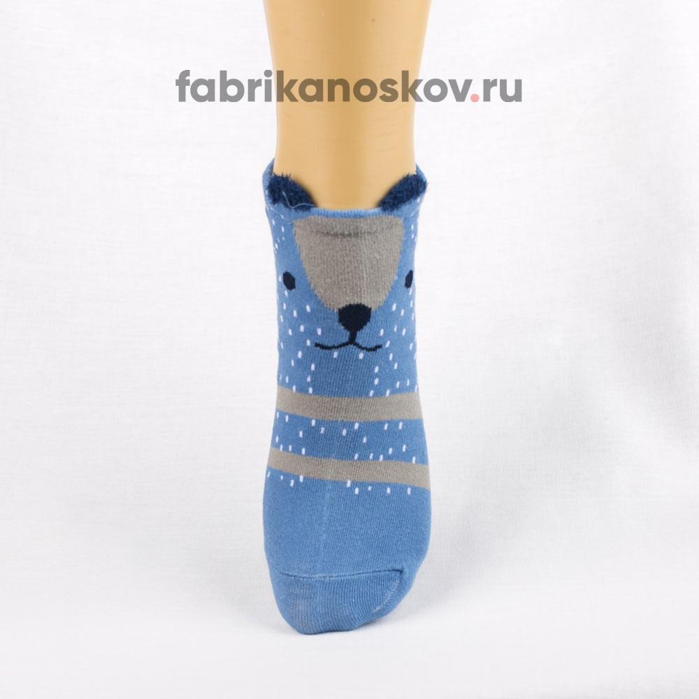 Короткие носки для малышей с мордочкой медведя