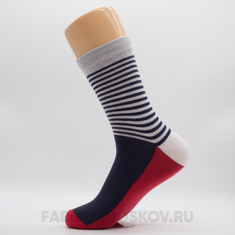 Мужские носки с полосами на паголенке