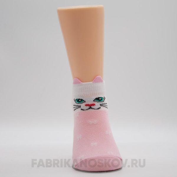 Детские носки с изображением кошки