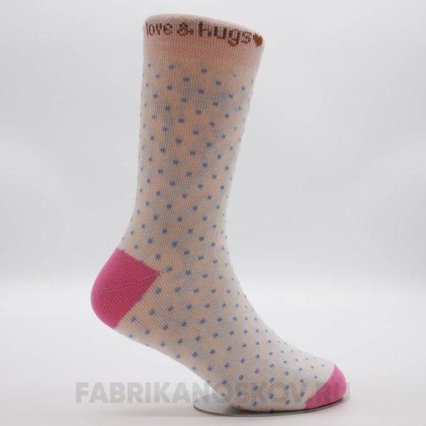 Детские носки с точками и надписью