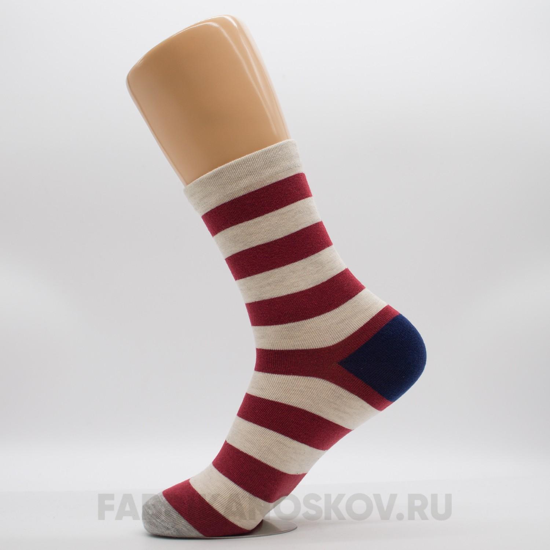 Мужские носки с полосками