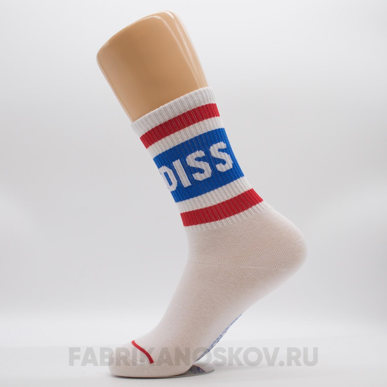 Женские носки с надписью «DISS»