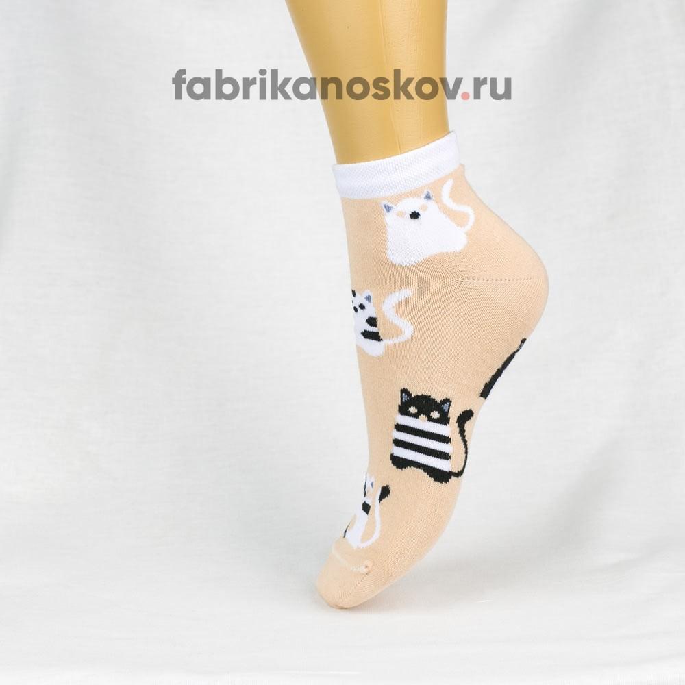 Женские носки с изображением котов