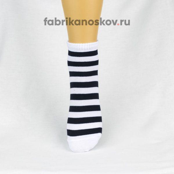 Женские носки с широкой полоской