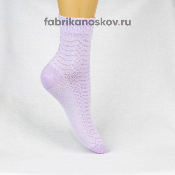 Женские носки с ажурной вставкой на подъеме