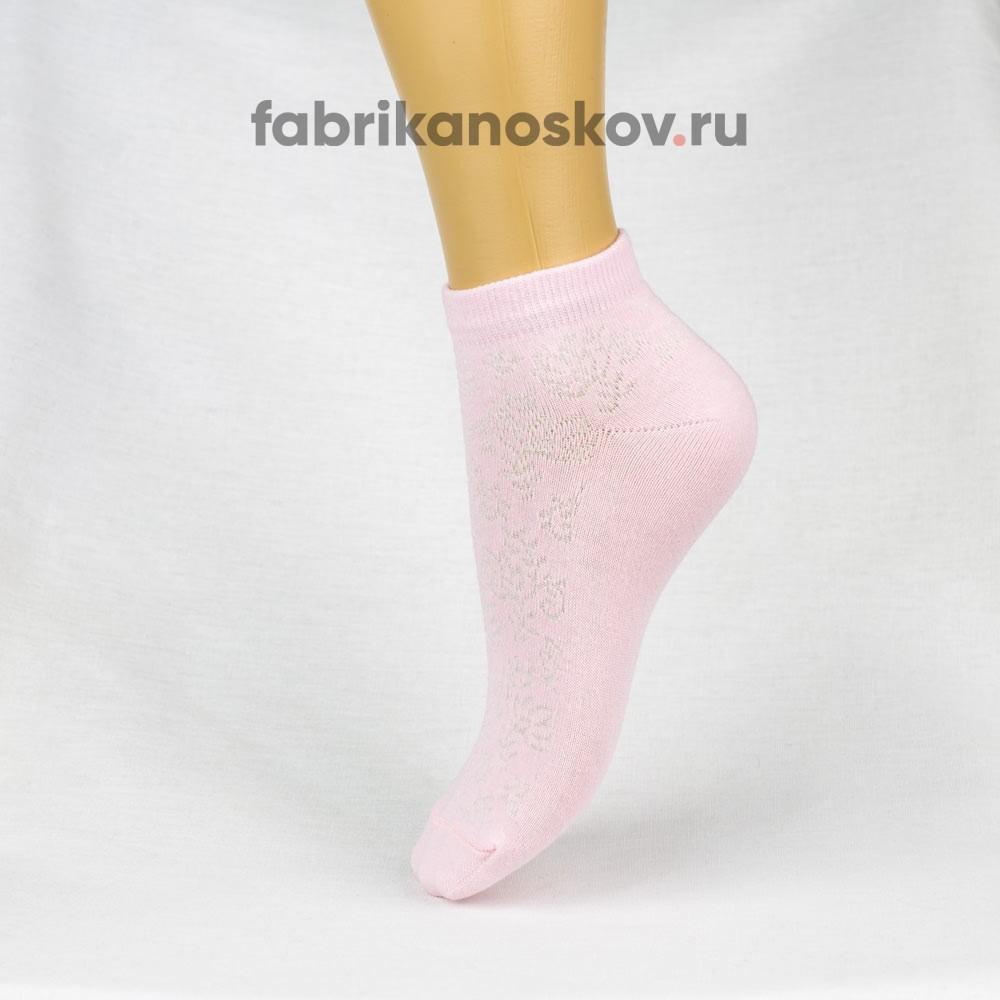 Женские носки с ажурной вставкой