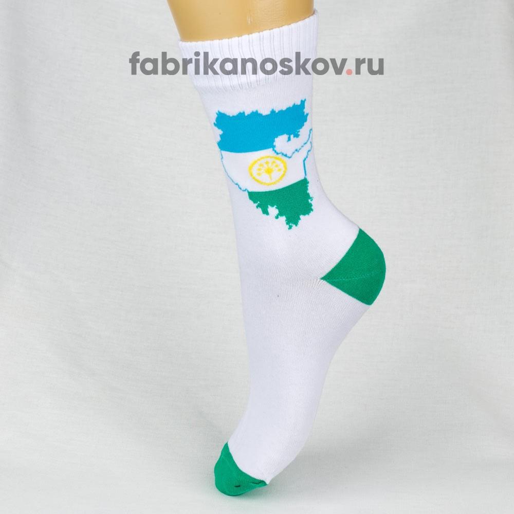 Мужские носки с изображением карты Башкортостана
