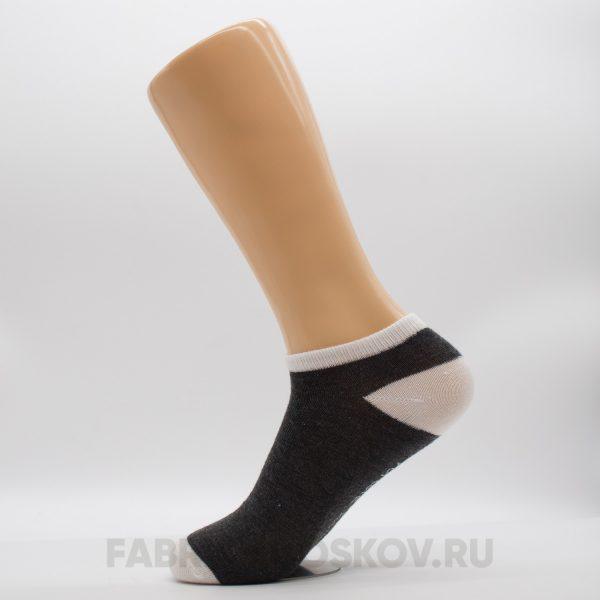 Мужские носки с серой вставкой